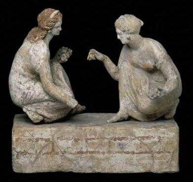 5 Gruppo di terracotta da Capua, tra il 340 e il 330 a.C. Londra, British Museum.